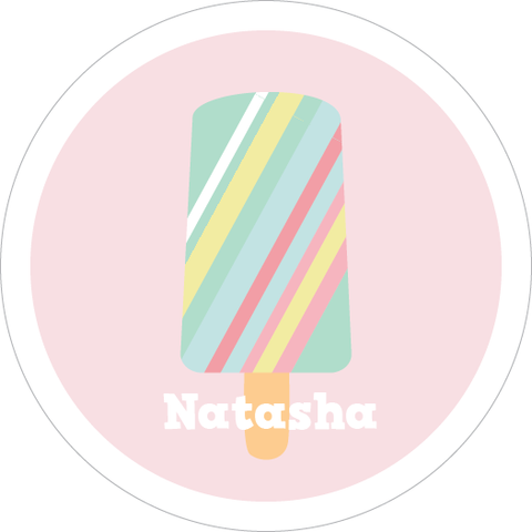 Ice Cream Water Resistant Labels