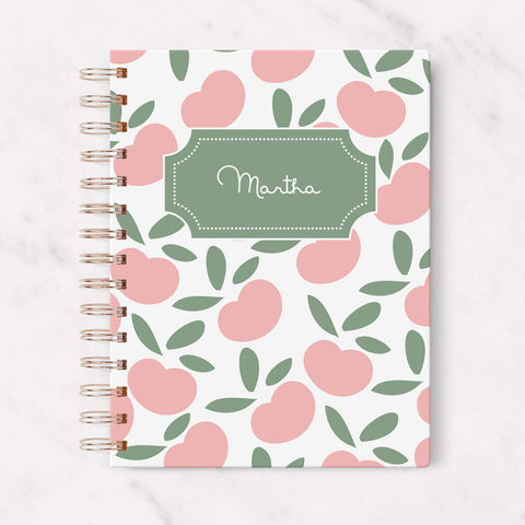 hardcover personalized peach planner