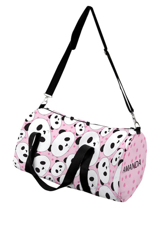 panda personalized duffle bag