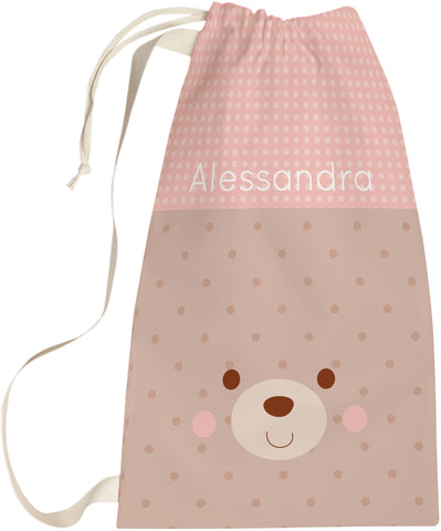 Girl Bear Laundry Bag