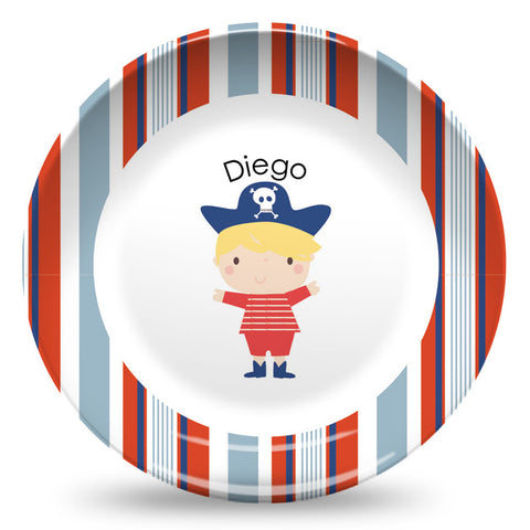 "Pirate - Blonde Hair  10"" Plate"