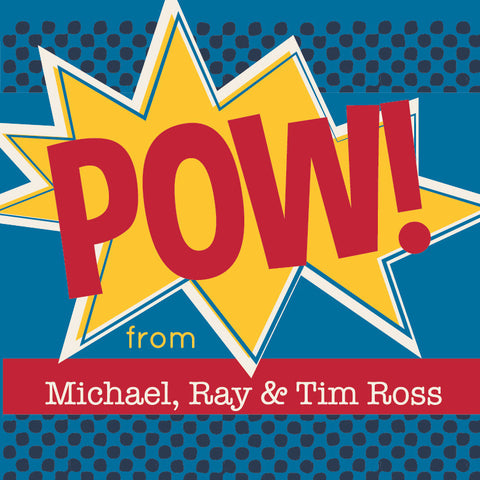 Pow! Gift Label