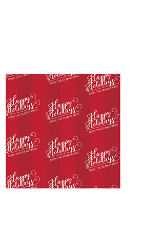 Personalized Happy Holidays Wrapping Paper