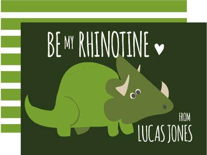 Rhino Valentine's Day Card (set of 10)