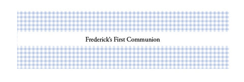 Communion Blue Gingham Band