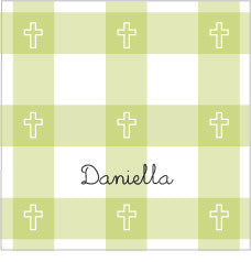 Communion Pistachio Plaid Label