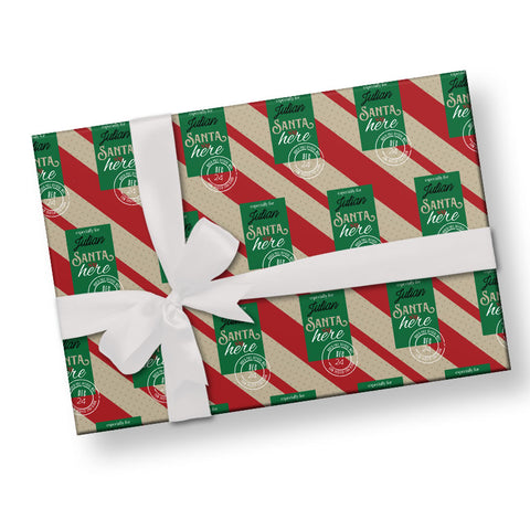 From Santa personalized wrapping paper