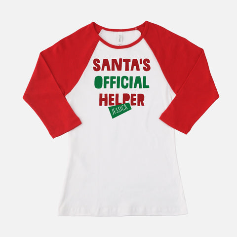 Woman's Santa's Official Helper T-shirt