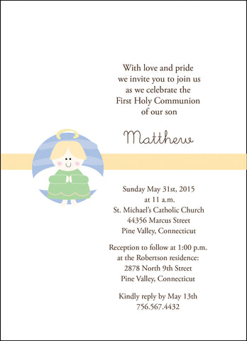 First Communion Angel Card