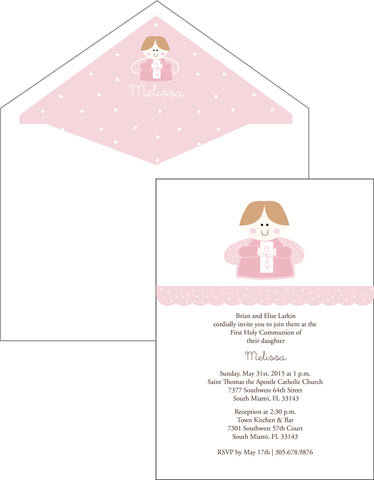 First Communion Angel Card 2