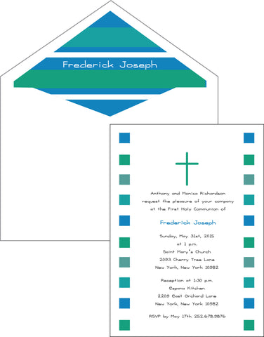 First Communion Squares Card