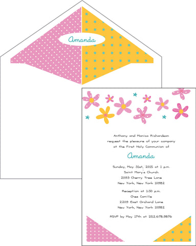 First Communion Flower Card 2