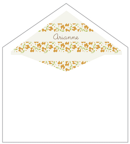 First Communion Flower Background Card