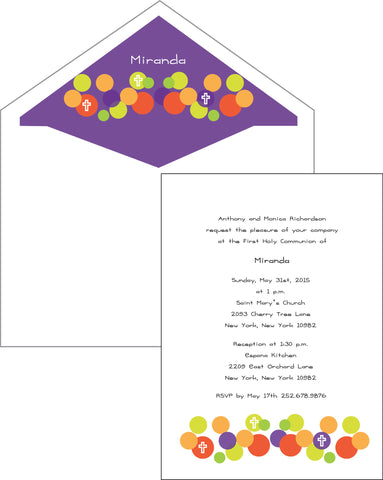 First Communion Dot Card