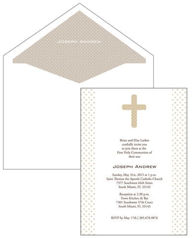 First Communion Polka dot Card