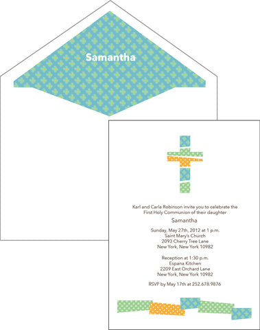First Communion Patchwork Card 2