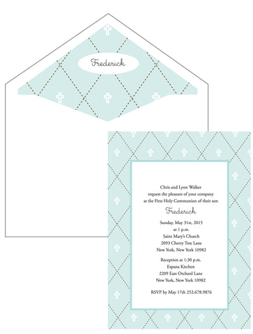 First Communion Quilt Card