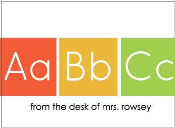 ABC Folded Card