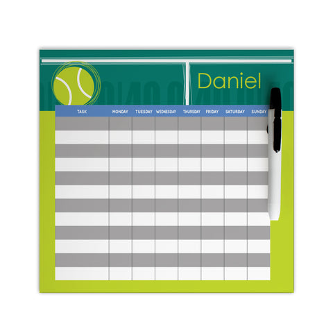 personalized tennis chore chart