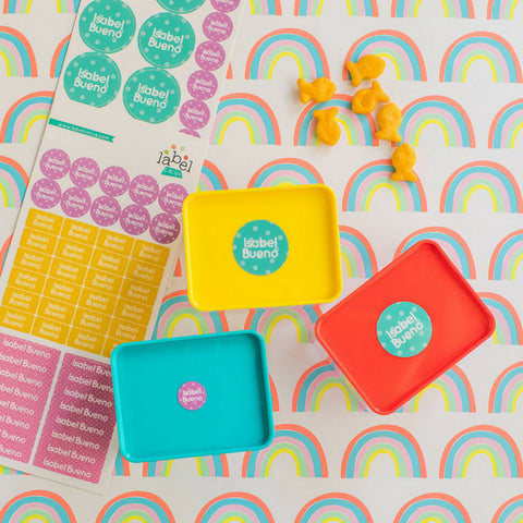 Colorful Polka Dots Everyday Label Pack