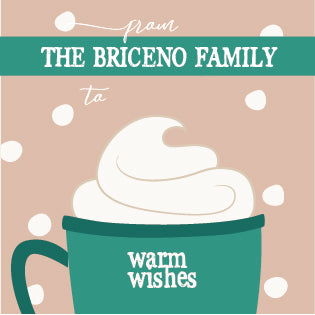 warm wishes gift label