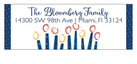 Whimsical Hanukkah Address Label