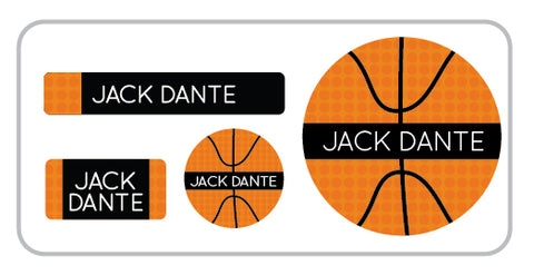basketball personalized labels for boys