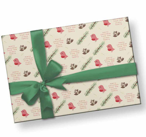 Personalized-birds-and-twigs-holiday-wrapping-paper