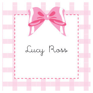 Bow Label Pink Gingham