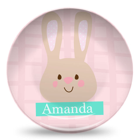 Personalized bunny plate for easter