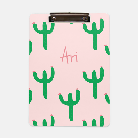 cactus personalized clipboard