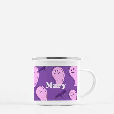 pink ghost persoanlized mug