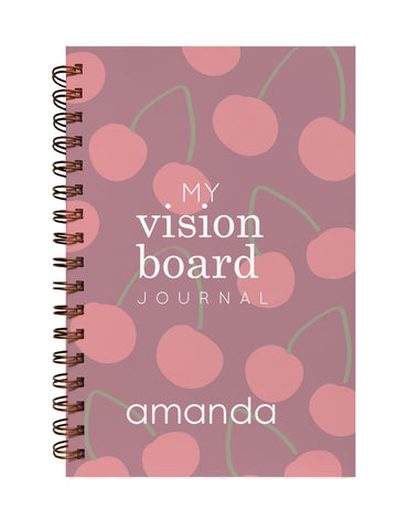 personalized cherry vision board journal