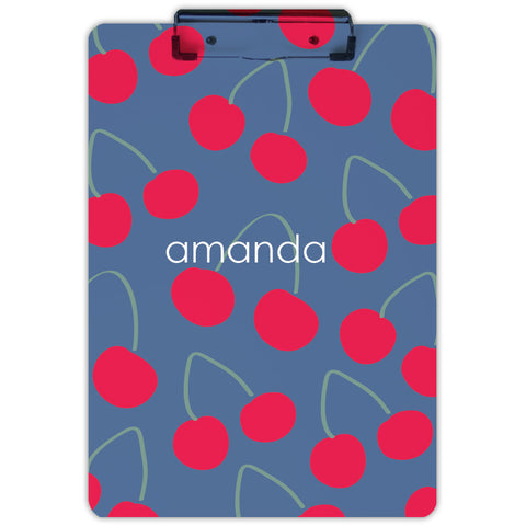 Personalized cherry clipboard for girls