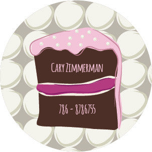 Chocolate  cake Label