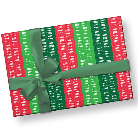 Personalized Christmas Gift Wrap