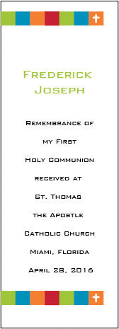 Personalized first communion bookmarks