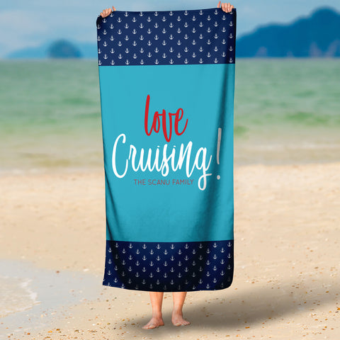 Love Cruising! Microfiber Towel