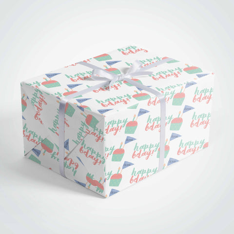 personalized cupcake wrapping paper