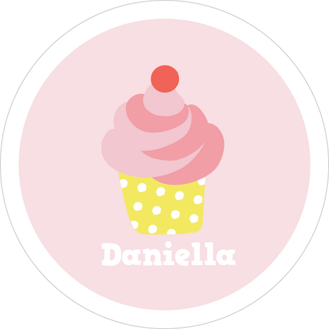Strawberry Cupcake Water Resistant Labels
