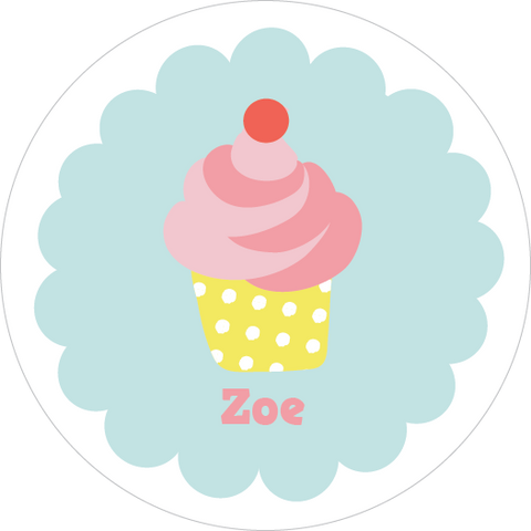 Swirl Cupcake Water Resistant Labels