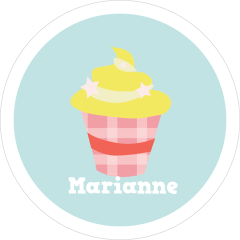 Lemon Cupcake Water Resistant Labels