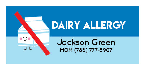 Dairy Allergy Name Tags