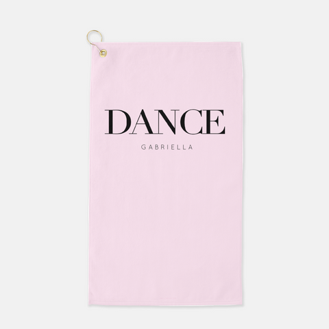 Dance pink sport towel
