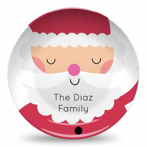 SANTA CLAUS PERSONALIZED PLATE