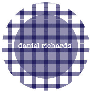 Dark Blue Plaid Label