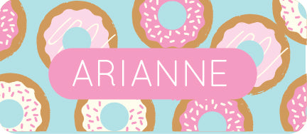 Donuts Water Resistant Name Tags