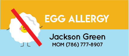egg allergy name tag