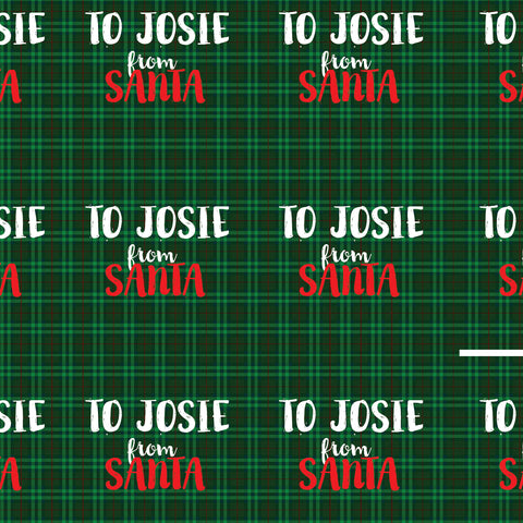 From Santa Personalized Gift Wrap Packed in the North Pole