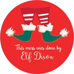 Elf Mess Label